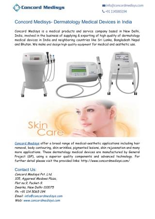 Concord Medisys- Dermatology Medical Devices India