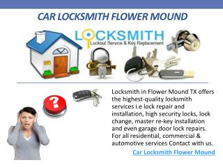 Car Locksmith Flower Mound