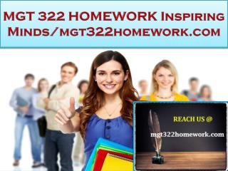 MGT 322 HOMEWORK Real Success / mgt322homework.com