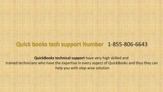 Tollfree Quickbooks Support   Number  1-855-806-6643 : Intuit Support