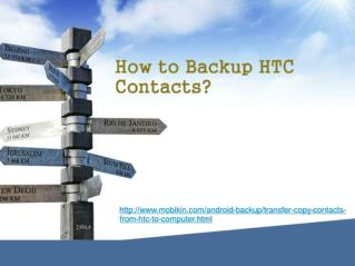 How to Backup HTC Contacts ?