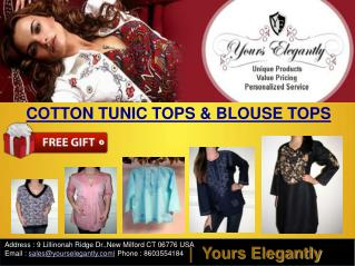 Yours Elegantly Cotton Tunic Tops and Blouse Tops