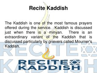 Jewish Prayer for Death  -  Recite Kaddish