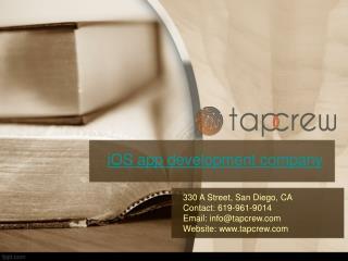 Tapcrew.com | San Diego iOS app development company
