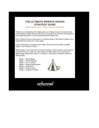 The Ultimate Website Design Strategy Template