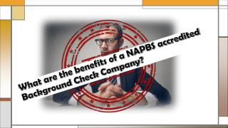 What are the Benefits of a NAPBS Accredited Background Check Company