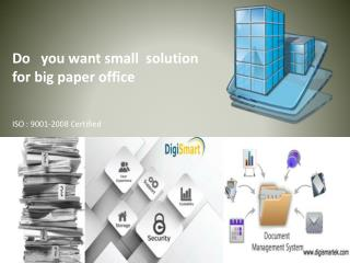 for  Business  we can use Document management system software