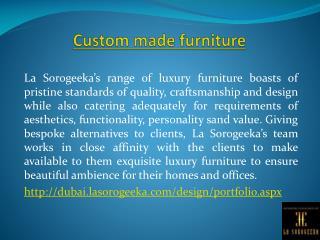 Custom Made Furniture in Dubai