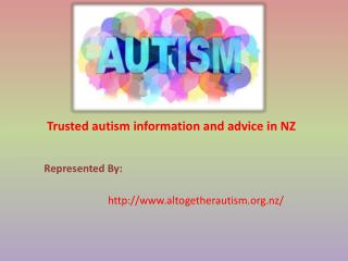 Trusted Autism Information