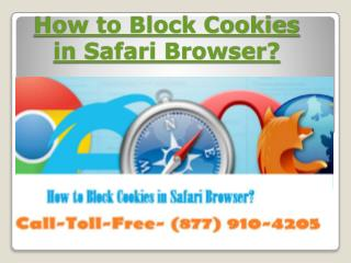 How to Block Cookies in Safari Browser? Dial-877-910-4205 Get Support