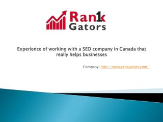 RankGators SEO services in Canada