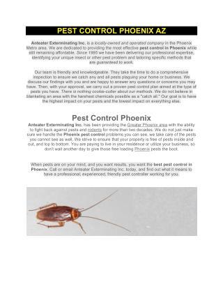 Pest control phoenix