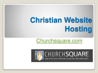 Christian Website Hosting - Churchsquare.com