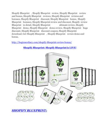 Shopify Blueprint review - EXCLUSIVE bonus of Shopify Blueprint