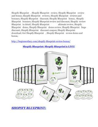 Shopify Blueprint review - EXCLUSIVE bonus of Shopify Blueprint