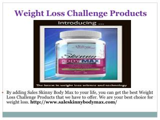 Weight Loss Challenge Products