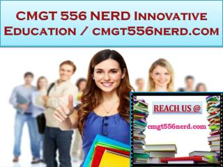 CMGT 556 NERD Innovative Education / cmgt556nerd.com