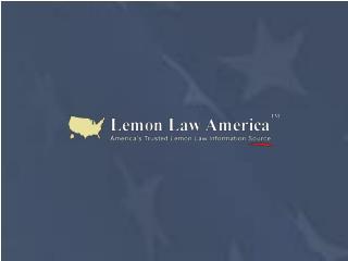 California Lemon Law - Lemon Law America