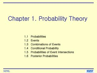 Chapter 1. Probability Theory