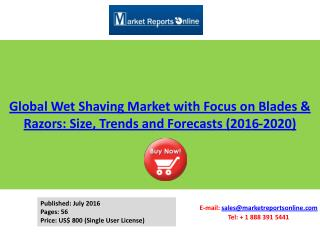 Global Wet Shaving Market with Focus on Blades & Razors 2020 Forecasts Analysis