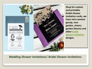 Wedding Shower Invitations| Bridal Shower Invitations