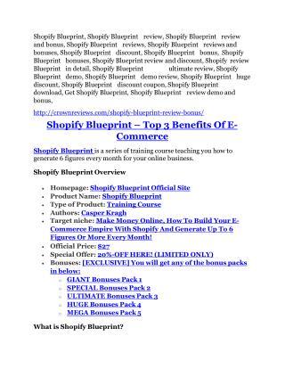 Shopify Blueprint Review-$32,400 bonus & discount