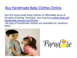 Handmade newborn baby girl clothes
