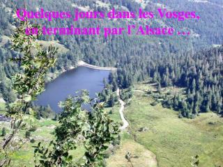 Quelques jours dans les Vosges, en terminant par l Alsace