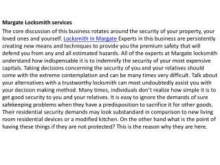 Locksmith Margate FL
