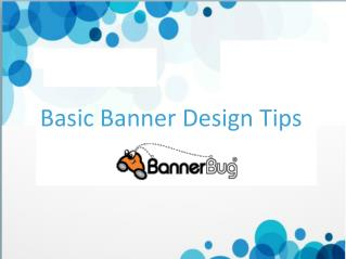 Basic Banner Design Tips
