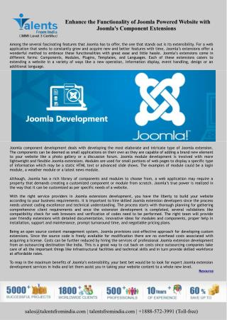 Enhance the Functionality of Joomla Powered Website with Joomla's Component Extensions
