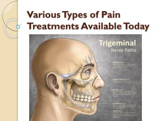 Various Types of Pain Treatments Available Today
