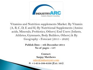 Vitamins and Nutrition Supplements Market globally ruled by North America followed by Europe, confirms market research.