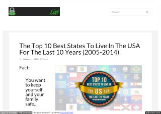 The Top 10 Safest States To Live In The USA (The Definitive Guide)