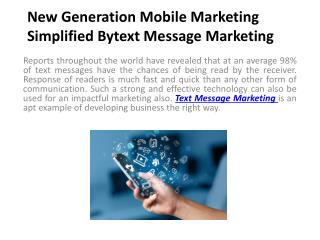 Mobile Marketing Simplified Bytext Message Marketing