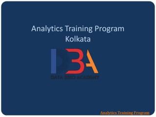 Analytics Training Program - Data Brio Academy