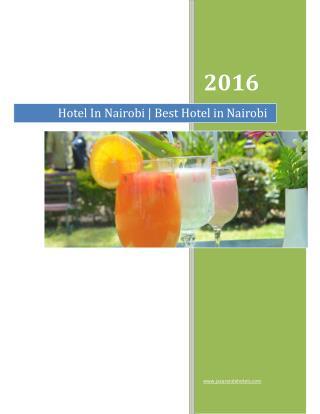 Hotel Nairobi | Best Hotel in Nairobi