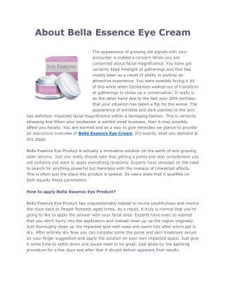 Bella Essence Eye Cream
