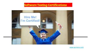 Software Testing Certificates