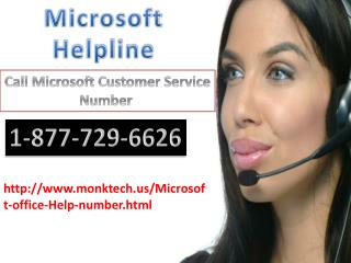 Microsoft Office Help Number call 1-877-729-6626