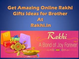 Get Amazing Online Rakhi Gifts Ideas for Brother At Rakhi.in