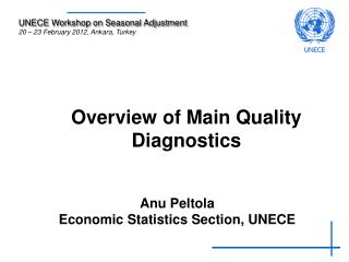 Overview of Main Quality Diagnostics