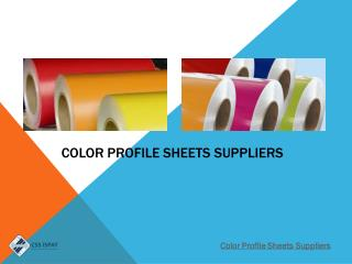 Color Profile Sheets Suppliers