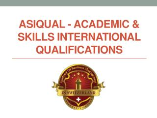 Asiqual Academic & Skills International Qualifications