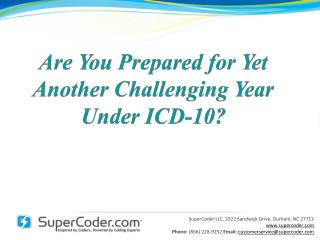 Are You Prepared for Yet Another Challenging Year Under ICD-10?