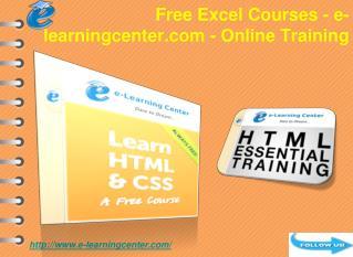 Free HTML Courses - e-learningcenter.com