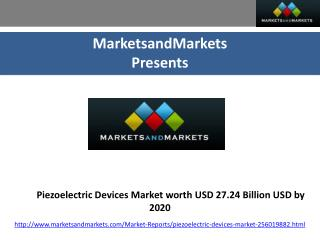 Global Overview of Piezoelectric Devices Market