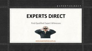 Finding Expert Witnesses in Sydney