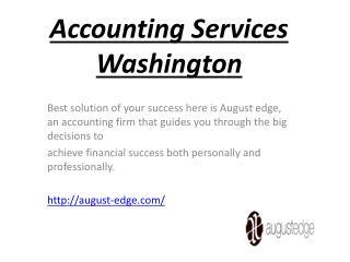 accounting services washington