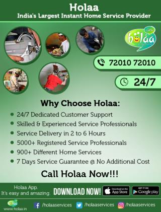 SAFE AND RELIABLE HOME SERVICES: HOLAA